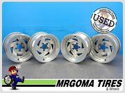 Set Of 4 Wheels 15x8 Used Rims Bolt Pattern 5x115 15'' Color Silver 5 Bolts 8x15