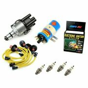 Vw Bug Ignition Kit 009 Distributor W/compufire,12v Bosch Blue Coil,yellow Wires