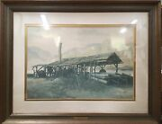 Russell May Old Sawmill Print, Framed And Matted, Signed And Numbered