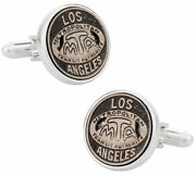 Los Angeles Transit Token Cufflinks Clad In Sterling Silver Tokens And Icons Nib