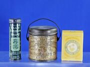 Lot Of 3 Vintage Advertising Mexican Java Coffee Blue Ribbon Boullion Arm Hammer