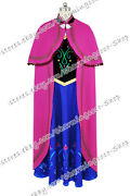Frozen The Snow Queen Anna Princess Cosplay Costume Daily Dress Full Set