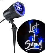 Lot Of Three 3 Projection Plus Whirl A Motion Static Let It Snow Blue White