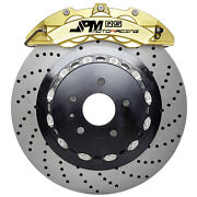 Jpm Forged Rs Brake 6pot Caliper Anodized Gold 14 Drill Disc For W204 08-13