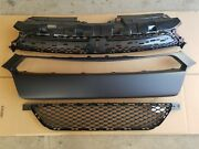 3pc Set 2013-2016 Dodge Dart Front Bumper Molding And Upper And Lower Grille New