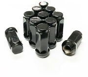 32 14x1.5 Black Acorn Lug Nuts 1.96 Tall Ford Chevy Dodge Gmc 3/4 Hex 19mm