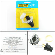 Seachoice Watertight Chrome Plated Brass Flange Electrical Deck Connector 10121