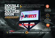 4'x8' High Resolution Full Color Led Sign For Displaying Digital Videos And Images