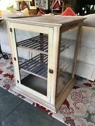 19th Century Schwanbeck And Bros. Natural Wood And Glass Pie Safe