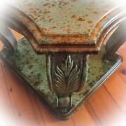 Copper Rusted, Table, Rustic, End Table, Green, Side Table, Vintage, Furniture