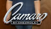 Camaro By Chevrolet Metal Sign 24x13 Inches