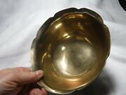 Solid Brass Oval Scalloped Edge Bowl / Dish