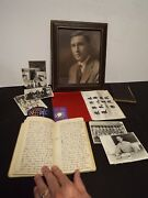 Wwi And Ii Soldier Both Wars - Large Archive Of Items - Diaries Bible Etc.