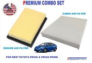 Combo Engine Air Filter + Cabin Filter For 2016 -2020 Toyota Prius And Prius Prime