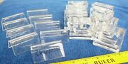 Clear Lucite Place Cards And Napkin Rings Set Of 17