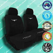 New Rmw, Rm Williams Black Canvas Car Front Seat Covers, Heavy-duty, Waterproof