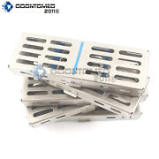 20x 5 Instrument Dental Surgical Sterilization Autoclave Cassette Tray Stainless
