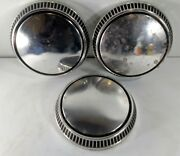 Three Ford Mustang Capri 9 1/2 Dog Dish Poverty Hubcap Center Cap Wheel Covers