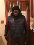 Planet Of The Apes Inspired Gorilla Soldier Cosplay Warrior Real Leather Vest