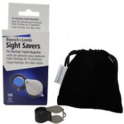 Triplet Lens Loupe Magnifier Basch And Lomb 14x Diamonds Coins Stamps High Quality