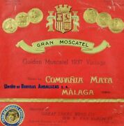 1920and039s-30and039s Vintage Wine Golden Muscatel Compania Mata Label Original B6