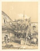 1838 Lithograph - View Of The Silk Market Of Bursa, Constantinople Istanbul