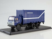 Scale Model Truck 1/43 Kamaz-53212 With A 20-foot Container Mail Of Russia