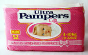 Rare Vintage 80's Ultra Pampers Girl 4-10kg 9-22lbs Plastic New Sealed Nos