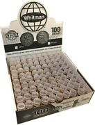 Cent Coin Tubes Penny Wheat Indian Head Safe Storage 100 Pcs Harris High Quality