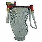 New Moon American Fire Hose Pin Rack Unit-50 Ft Hose-plastic Nozzle-steel-red