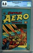 Captain Aero 25 Cgc 8.0 - L.b. Cole Cover - Only 4 Copies Graded Higher