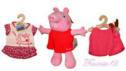 Build A Bear Peppa Pig Teddy With Outfits 15in. Stuffed Plush Toy Animal Set Htf