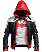Red Hood Leather Jacket And Vest Batman Arkham Knight Game Costume