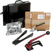 New Steel Strapping Kit With Two 3/4 X 200' Coils, Tensioner, Sealer, Cutter