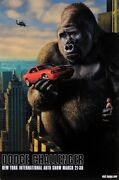 Original American Poster For King Kong Dodge Challenger New York Auto Show 200
