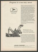John Deere Industrial And Agricultural Equipment 1961 Vintage Print Ad