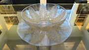 Large Rene Lalique Felix Bowl And Charger Under Plate Circa 1926