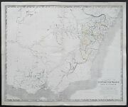 C1848 Australia Colony Of New South Wales And Victoria Johnston Large Antique Map