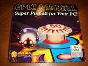 Epic Pinball 3.5 Inch Disk Gold Medallion Software 1993 Pc Game Collectible Disc