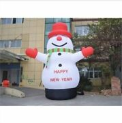 Lovely Giant Outdoor Christmas Inflatable Snowman For Christmas Decoration 8m Ty