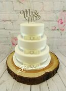 Wedding Cake Bridal White Diamante Toppers Mr And Mrs Love Hearts Cake Sets
