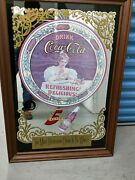 Coca Cola Mirror The Most Refreshing Drink In The World Sales Award Mirror 1976