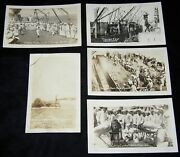 5 Wwi Uss Florida In Battle And Fun And Games Rppc Real Photo Postcard Navy Lot