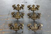 Set Of 6 Antique Chippendale Drawer Pull Hardware Federal Colonial Style Dresser