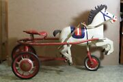 Antique Horse Pedal. Ussr Soviet Time Very Rare And Old Metal Pedal Car