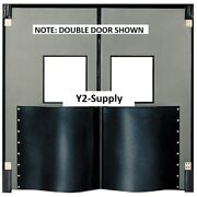 New Chase Doors Extra Hd Single Panel Traffic Door 3and039w X 7and039h Metallic Gray