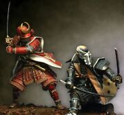 Duelling Japanese Samurai Tin Painted Toy Soldier Miniature Pre-sale | Museum