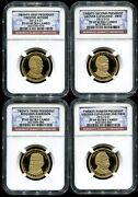 2012 S Presidential Dollar 4 Coin Proof Set Ngc Pf69 Ultra Cameo
