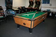 7 Ft Valley Arcade Pool Table New Cloth With New Rails Ready To Go