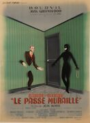 Original Vintage French Movie Poster For 'le Passe Muraille' Labisse 1951